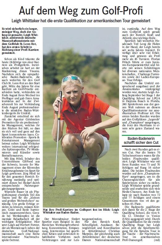 Badisches Tagblatt, 19.09.2012