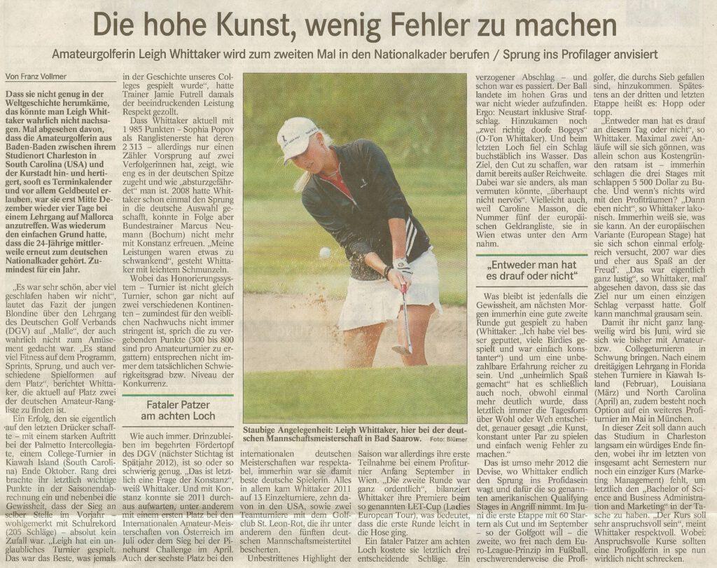 Badisches Tagblatt, 31.01.2012